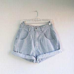 Vintage Brittania stripe high rise mom jean shorts